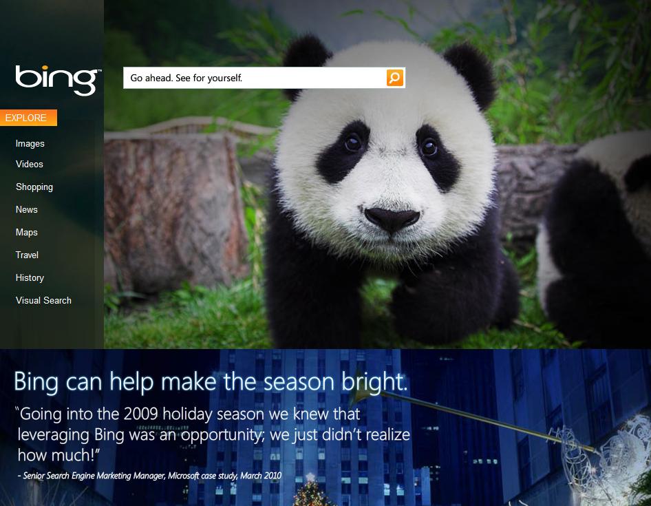 Bing celebra 1º aniversário