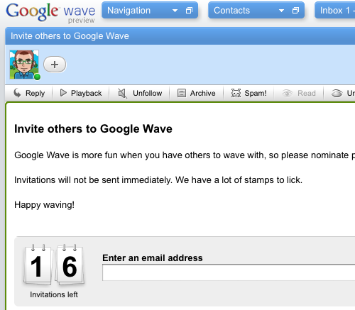 google wave invites